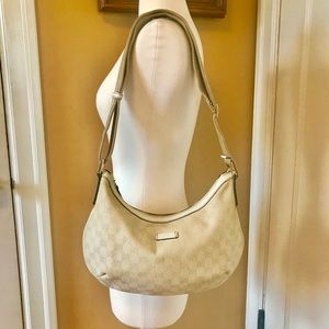 GUCCI GG Sherry Line PVC Beige